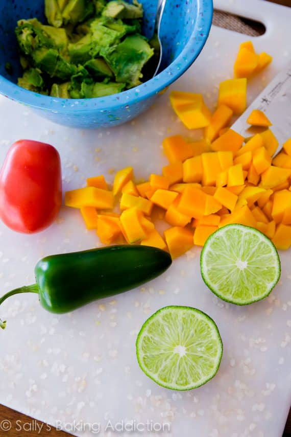 Ingredients for Mango Guacamole