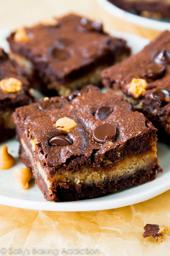 Peanut Butter Stuffed Brownies. - Sallys Baking Addiction