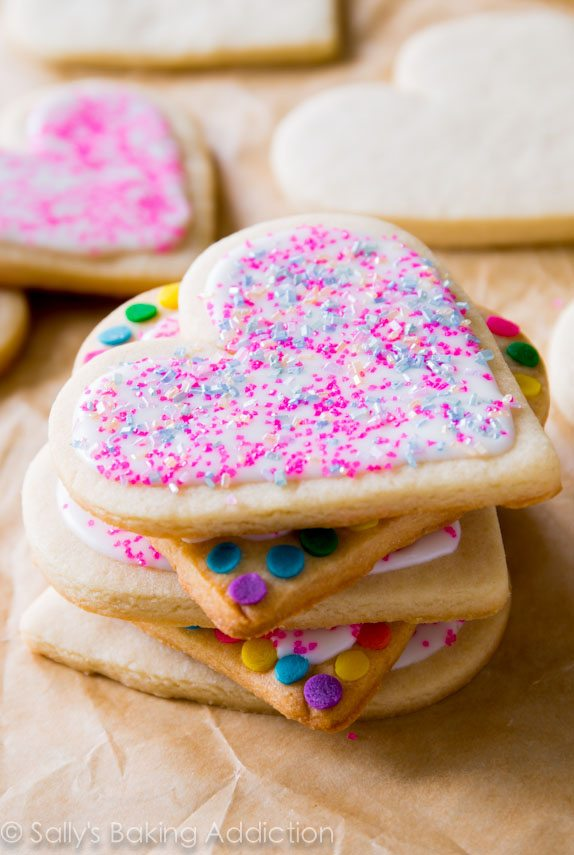 Soft Cut Out Sugar Cookies by sallysbakingaddiction.com