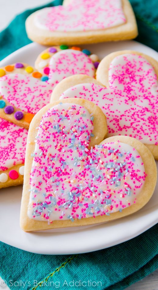 Soft Cut-Out Sugar Cookies by sallysbakingaddiction.com