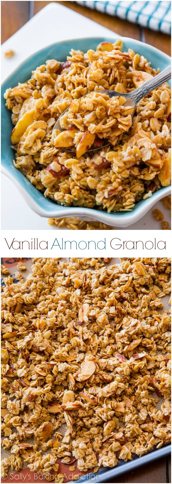 This crunchy Vanilla Almond Granola is exploding with flavor! So simple to make too.