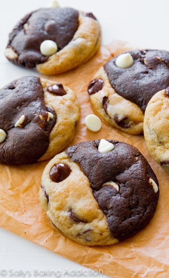 Double Chocolate Chip Swirl Cookies. - Sallys Baking Addiction