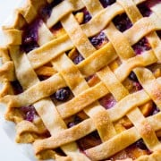 Peach Blueberry Pie-11