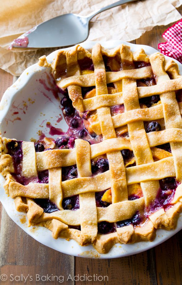 Peach Blueberry Pie