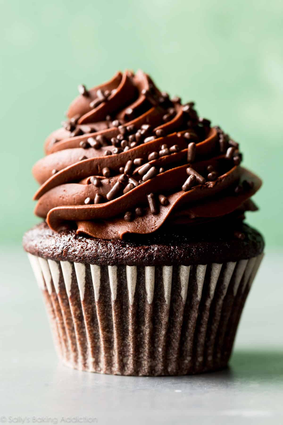 Classic Chocolate Cupcakes With Vanilla Frosting Sallys
