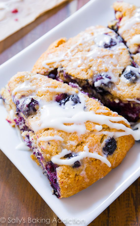 The BEST Blueberry Scones - super moist and tender in every bite ...