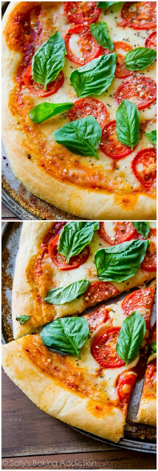 Sometimes you just can't beat a classic like fresh and simple Margherita Pizza. This homemade pizza crust with fresh toppings hits the spot!