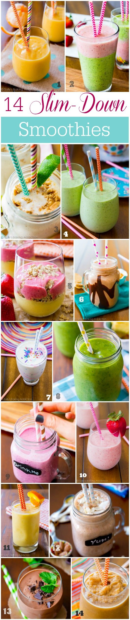 14 Slim-Down Smoothies by sallysbakingaddiction.com