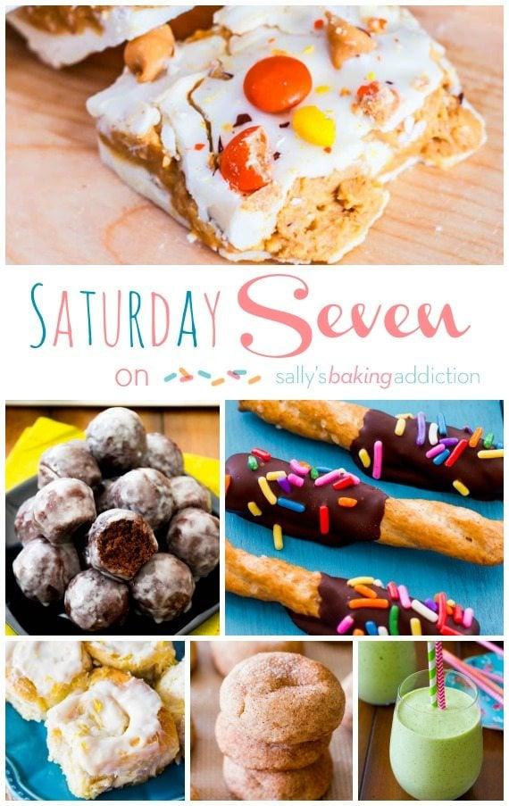 7 easy summer recipes on sallysbakingaddiction.com like Lemon Sweet Rolls, Chocolate Donuts, Detox Smoothies, and more!