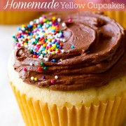 Homemade Yellow Cupcakes