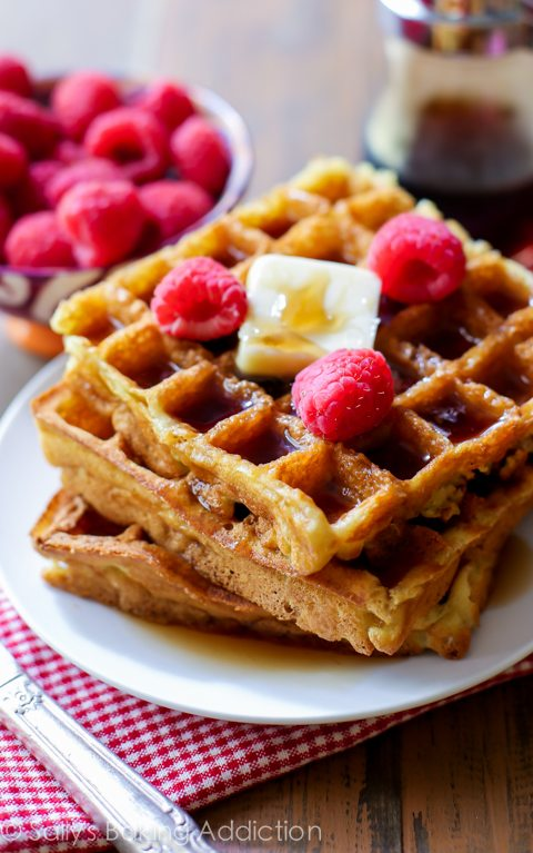Buttermilk Waffles are delightfully crisp on the outside and light ...