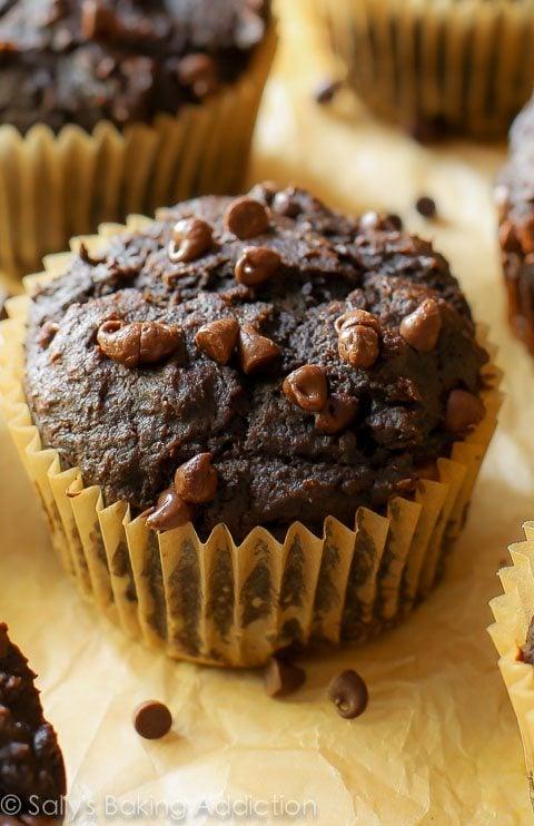 130 Calorie Chocolate Pumpkin Muffins