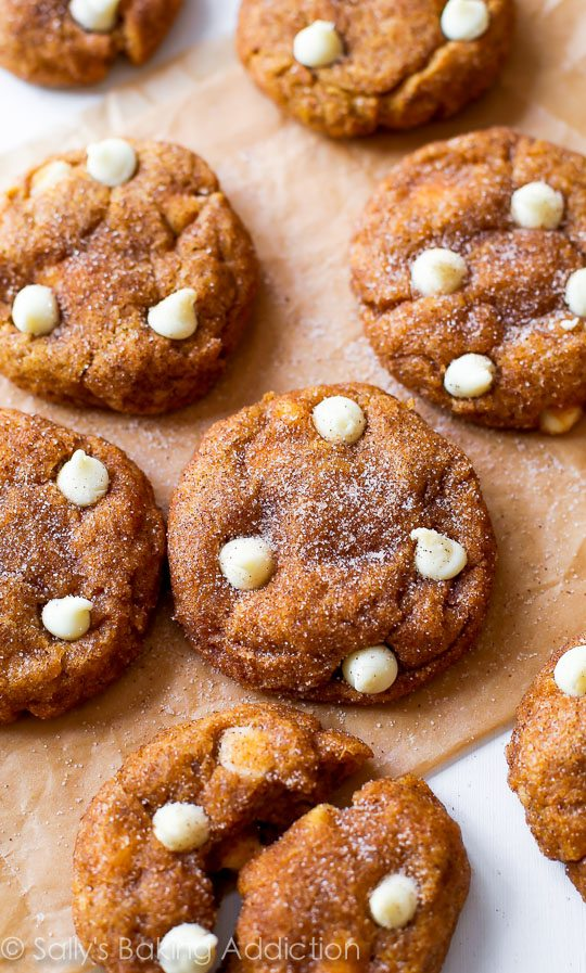 Simple Pumpkin Snickerdoodle Cookies