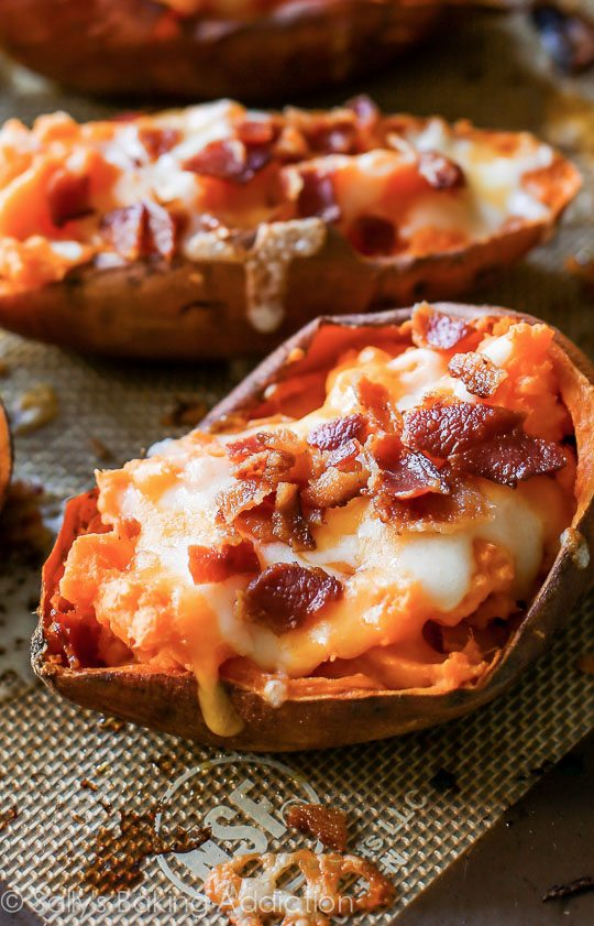 Simply Loaded Sweet Potato Skins - what a great snack or side for game day!