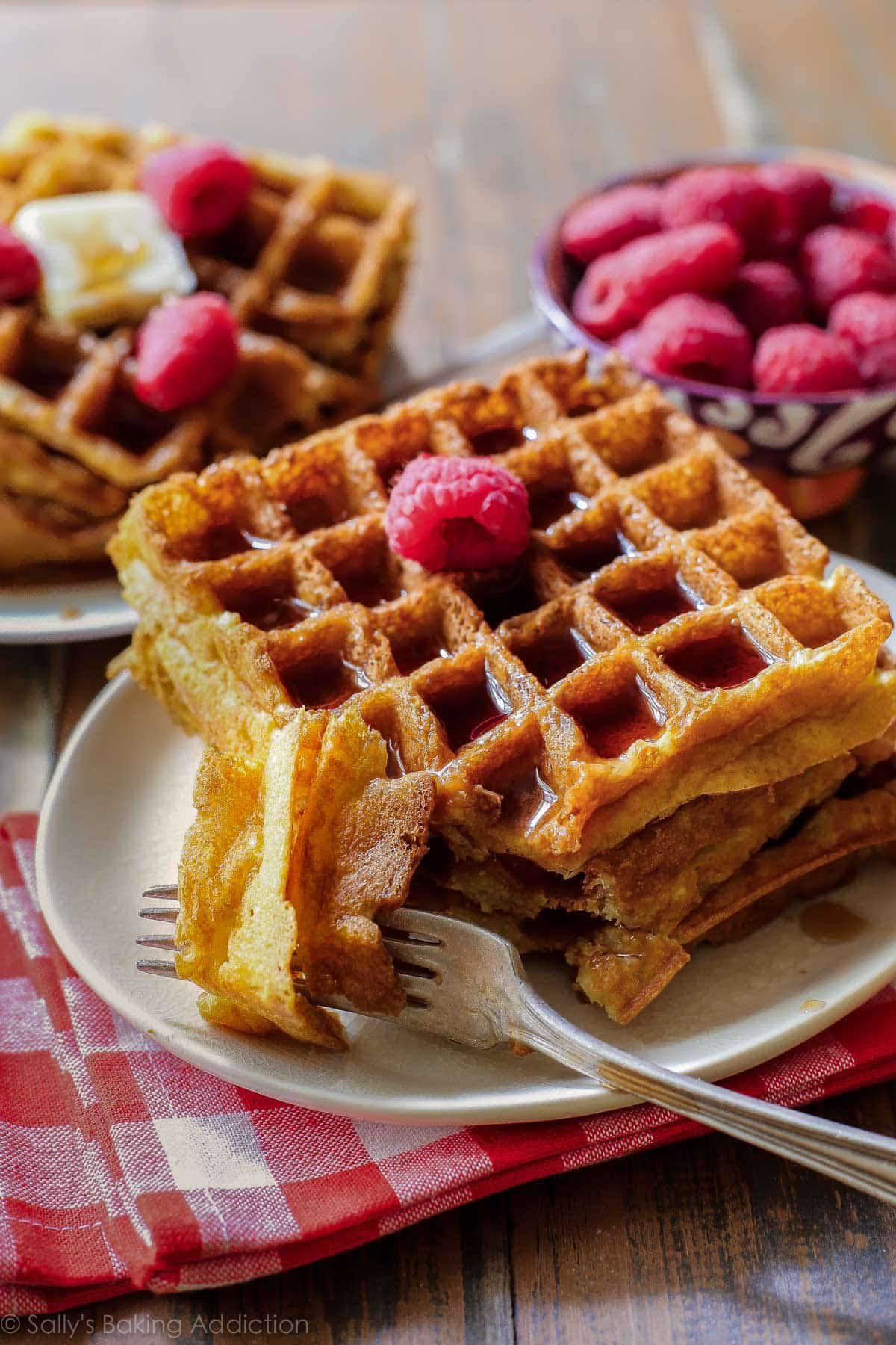 My Favorite Buttermilk Waffles - Sallys Baking Addiction