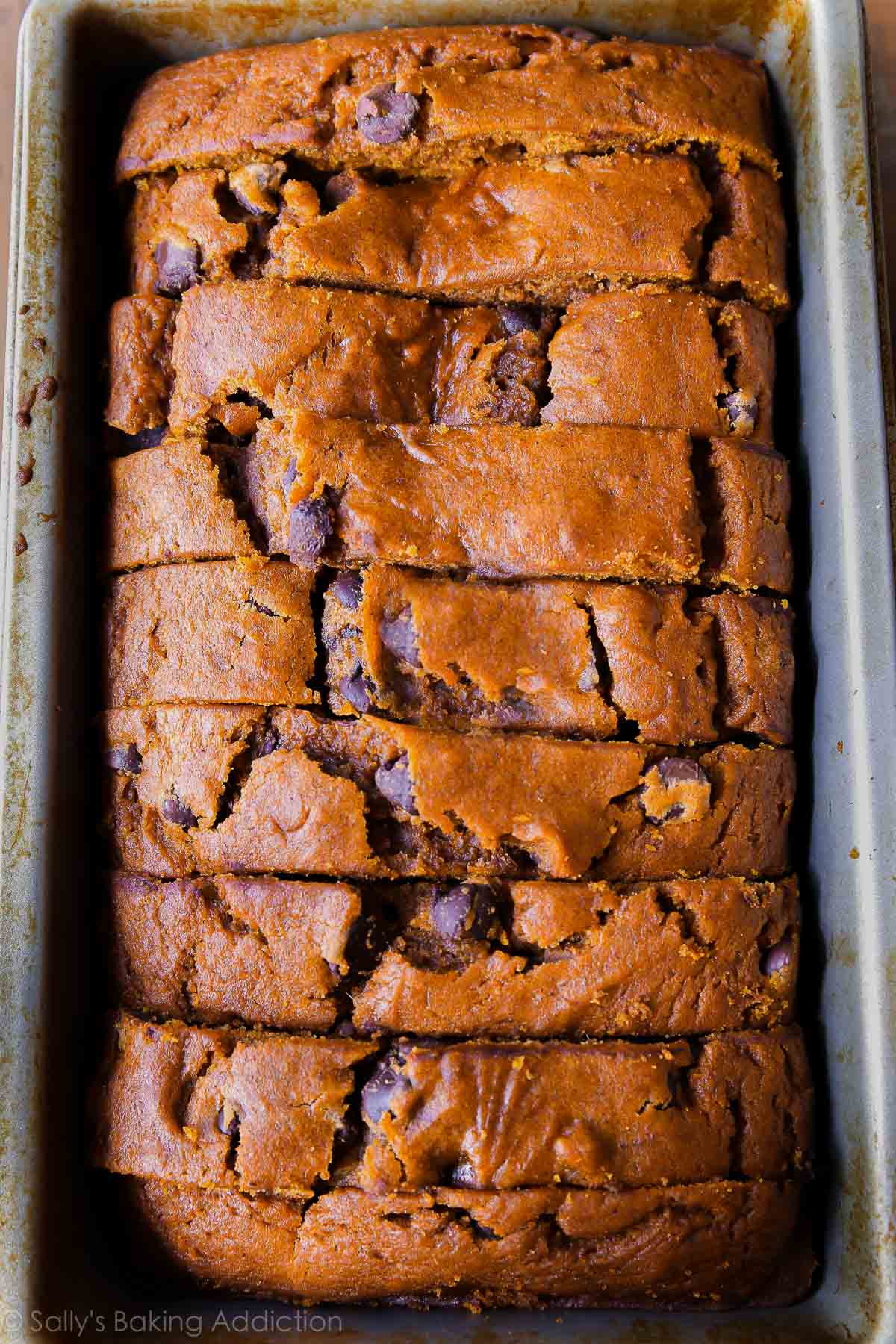 Pumpkin Chocolate Chip Bread. - Sallys Baking Addiction