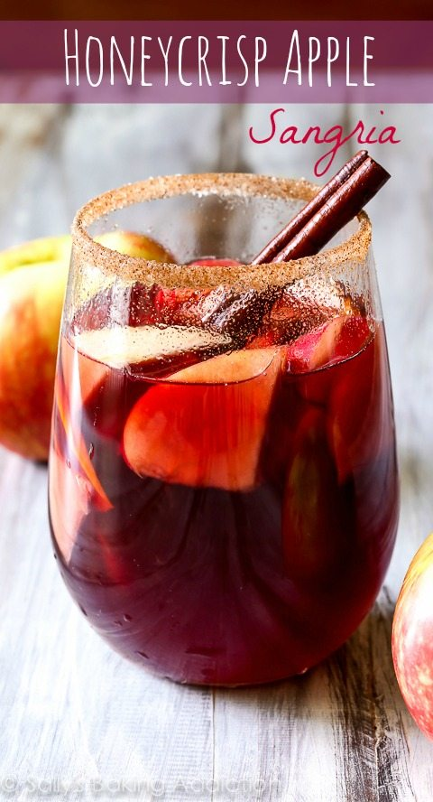 Honeycrisp Apple Sangria Recipe - the perfect cocktail for the fall season!