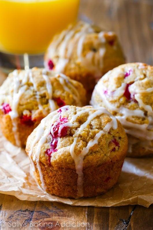 Cranberry Orange Muffins on sallysbakingaddiction.com