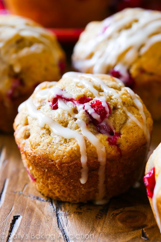 Cranberry Orange Muffins by sallysbakingaddiction.com