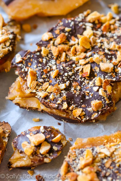 Dark Chocolate Salted Almond Toffee