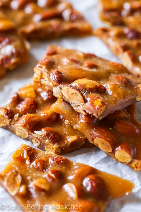 Cinnamon Almond Toffee Recipe - a step-by-step visual guide to making toffee on sallysbakingaddiction.com