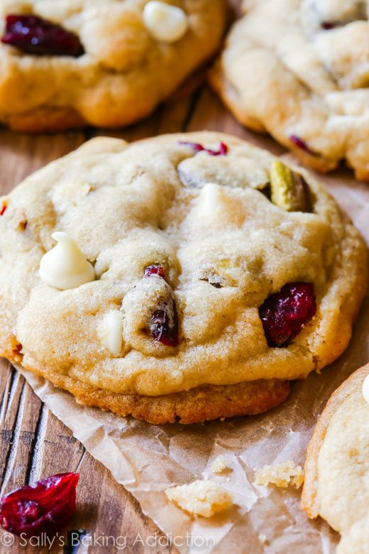 Salty Sweet White Chocolate Cranberry Pistachio Cookies-- the butter ...