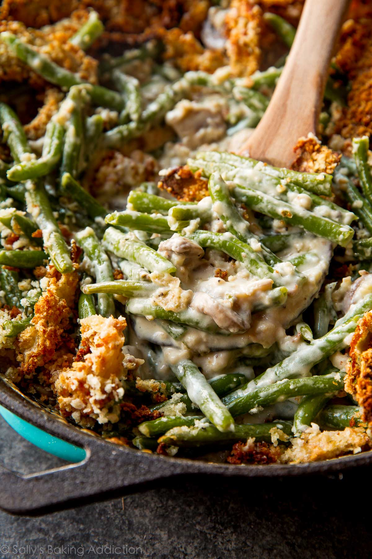 Creamy green bean casserole from scratch sallys baking for Easy thanksgiving green bean recipes