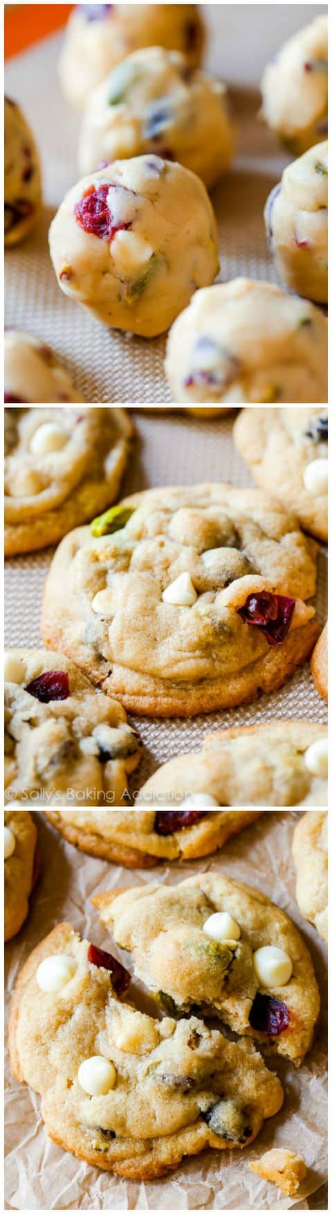 White Chocolate Cranberry Pistachio Cookies. - Sallys Baking Addiction