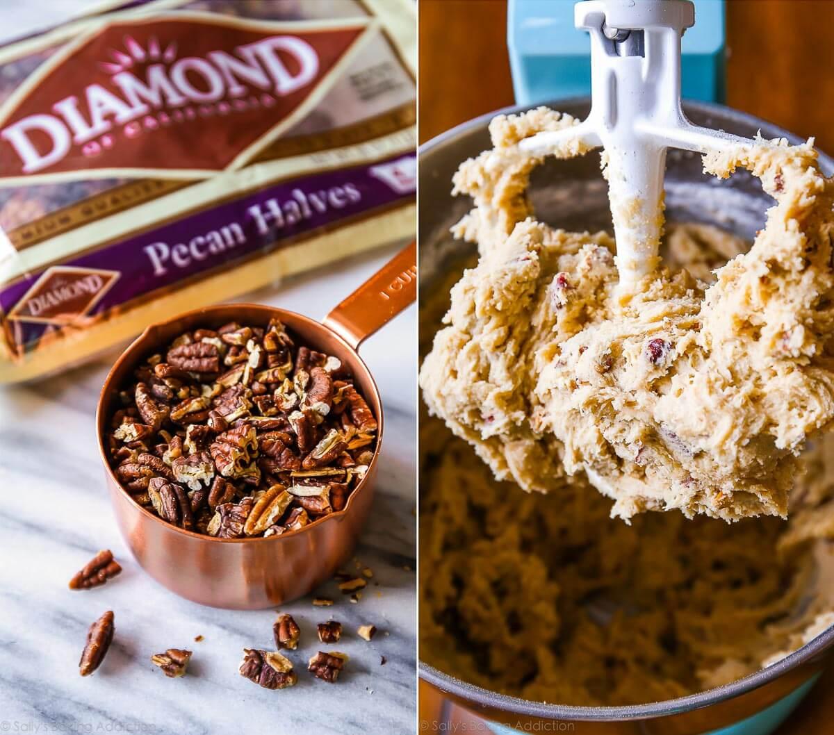 How to make butter pecan cookies on sallysbakingaddiction.com