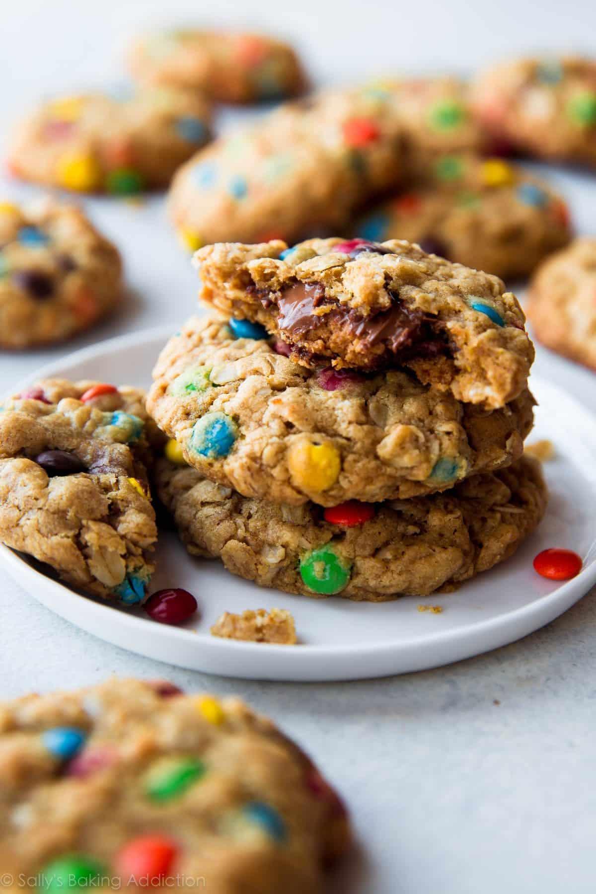 Peanut Butter Cup Surprise Monster Cookies - Sallys Baking Addiction