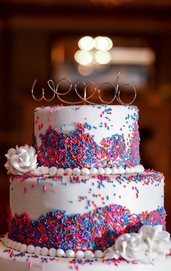 Wedding Cake #sprinkles #weddingcake #dessert #cake #wedding