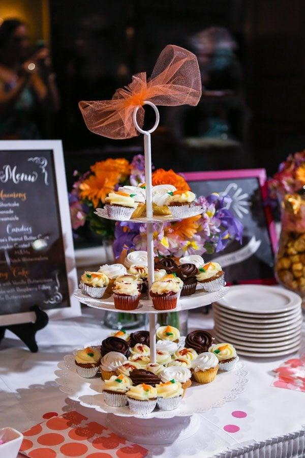 Wedding Dessert Bar with assorted mini cupcakes #wedding #cupcakes #weddingday #bride