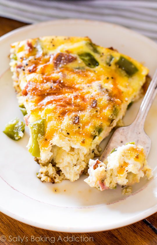 A perfectly healthy, satisfying, gluten free meal. Enjoy a generous slice of this flavorful cheese and sausage quiche for only 140 calories!
