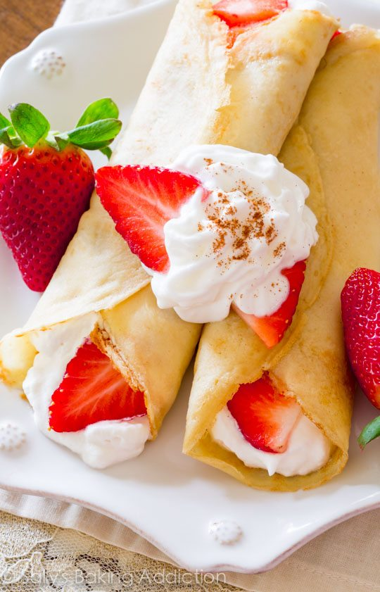 On sallysbakingaddiction.com, learn how to master the art of crepe making! Plus a recipe for Strawberries 'n Orange Cream Crepes.