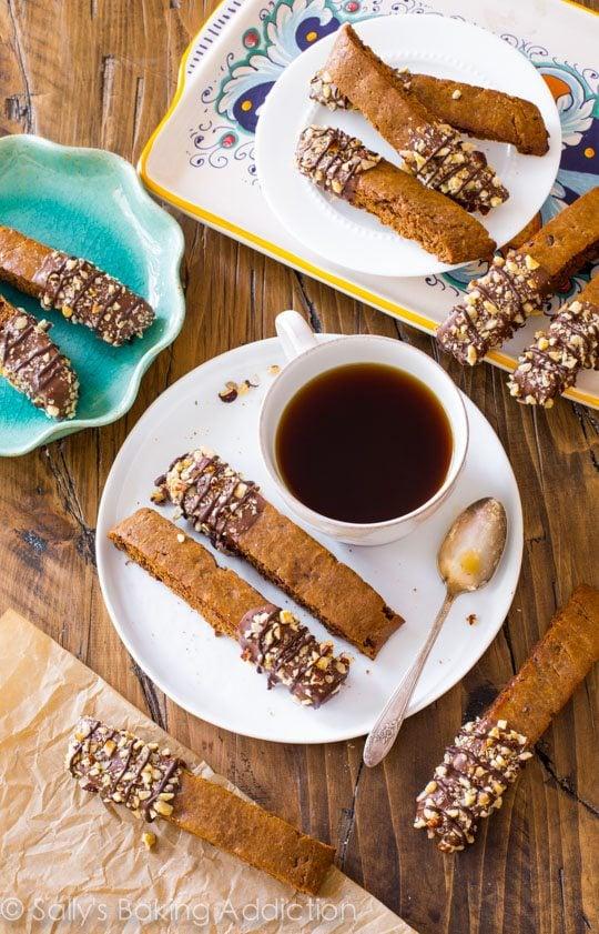 Mocha Chip Biscotti recipe on sallysbakingaddiction.com-- my favorite biscotti recipe with tons of chocolate and coffee flavor!
