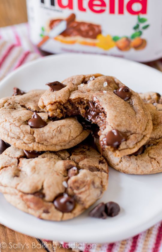 Nutella Chocolate Chip Cookies. - Sallys Baking Addiction