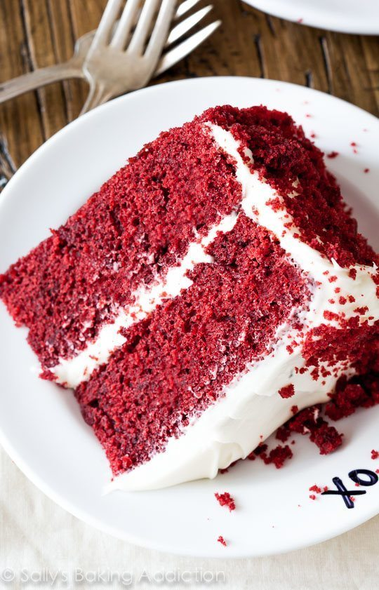 I love this Red Velvet Layer Cake recipe! Learn exactly how to make it on sallysbakingaddiction.com