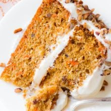 Carrot Cake Recipe from sallysbakingaddiction.com | Simple, moist, packed with flavor!-2