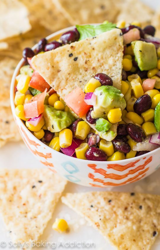 Fiesta Corn & Avocado Salsa. - Sallys Baking Addiction