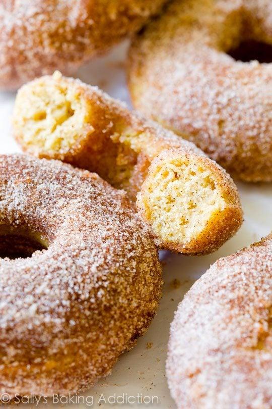 Baked Cinnamon Sugar Donuts sallysbakingaddiction.com