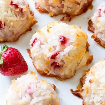 Easy Strawberry Coconut Macaroons