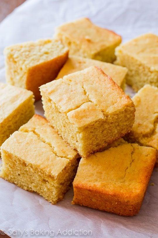 My Favorite Cornbread Recipe on sallysbakingaddiction.com