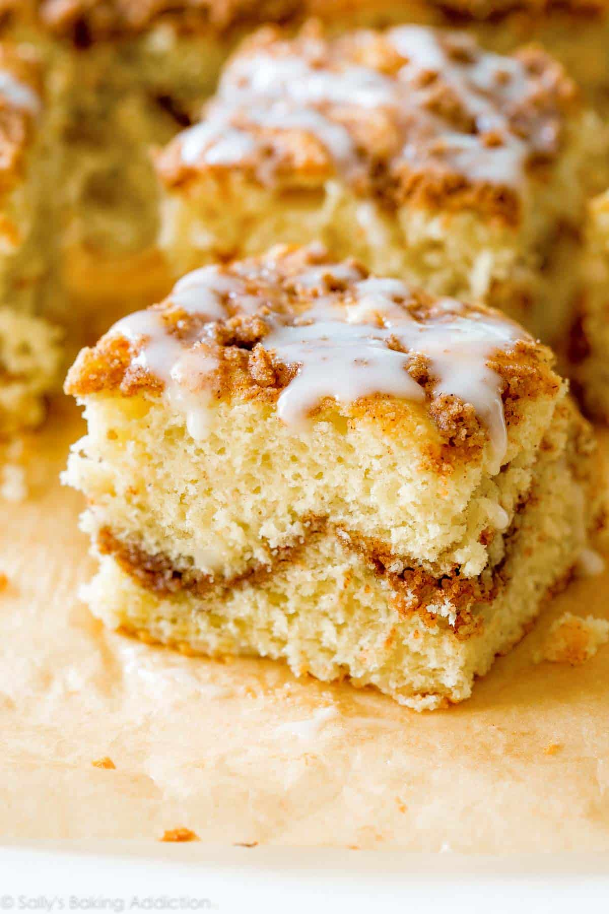 Old Fashioned Crumb Cake Recipe on sallysbakingaddiction.com-- click ...