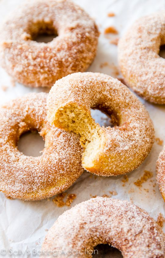 Baked Cinnamon Sugar Donuts. - Sallys Baking Addiction