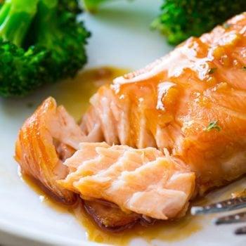 Garlic Honey Glazed Salmon-6