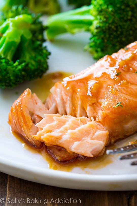 35 minutes. Glazed salmon. A recipe everyone will love. Done done and ...