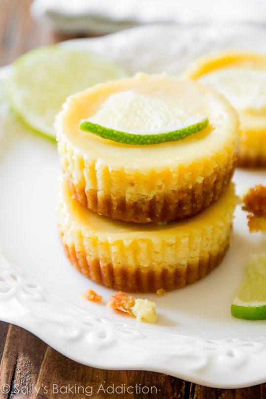 Key Lime Pies-- a teeny tiny version of the CLASSIC!
