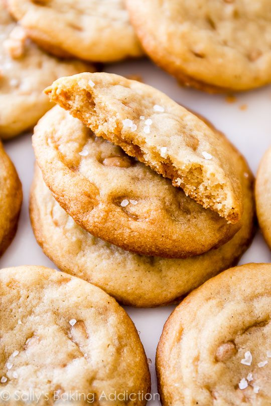 Chewy edges, soft centers, lots of buttery goodness!!