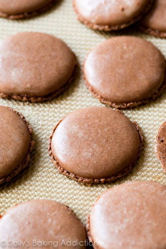 How to make Chocolate Macarons on sallysbakingaddiction.com