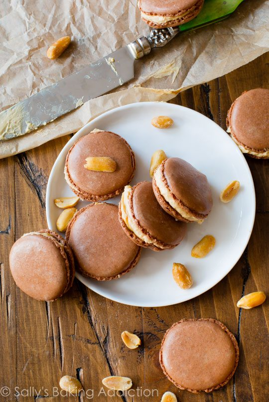 Here's EXACTLY how to make chocolate peanut butter macarons-- plus tips, tricks, and detailed step-by-step instructions! sallysbakingaddiction.com